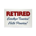 Retired: Goodbye Tension Hell Rectangle Magnet (10