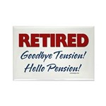 Retired: Goodbye Tension Hell Rectangle Magnet