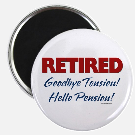 "Retired: Goodbye Tension Hell 2.25"" Magnet (10 pac"