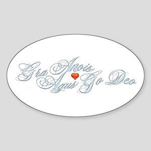 Gaelic Love Oval Sticker