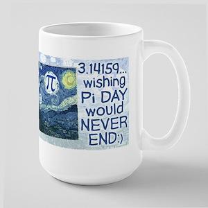 Pi Day never ends Large Mug