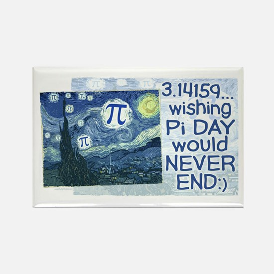 Pi Day never ends Rectangle Magnet