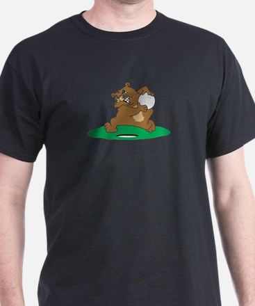 Golf Gopher Black T-Shirt