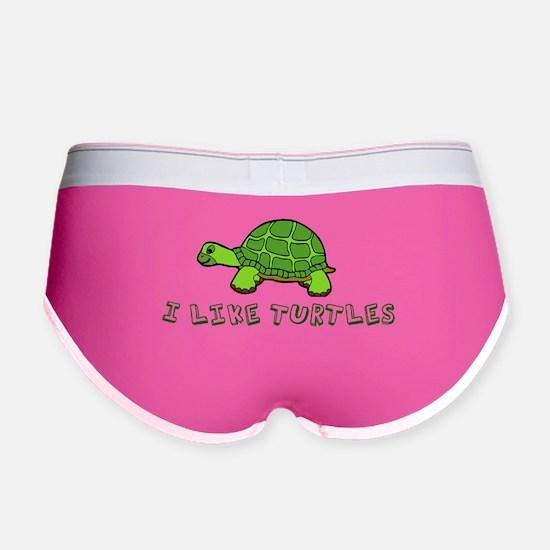I Like Turtles Women's Boy Brief