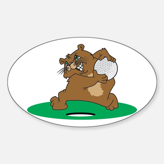 Golf Gopher Oval Decal
