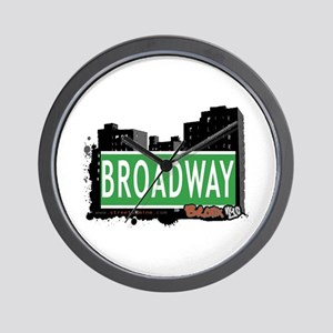 Broadway, Bronx, NYC Wall Clock