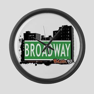 Broadway, Bronx, NYC Large Wall Clock