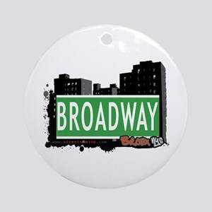 Broadway, Bronx, NYC Ornament (Round)