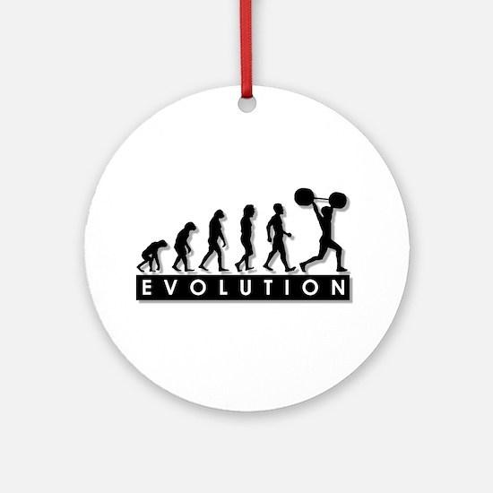 Evolution of Body Building Ornament (Round)