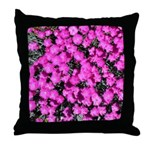 Hot Pink Dianthus Throw Pillow