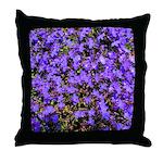 Flash of Purple Lobelias Throw Pillow