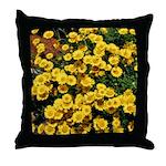 Brilliant Yellow Flowers Throw Pillow