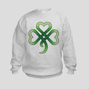 Celtic Clover Kids Sweatshirt