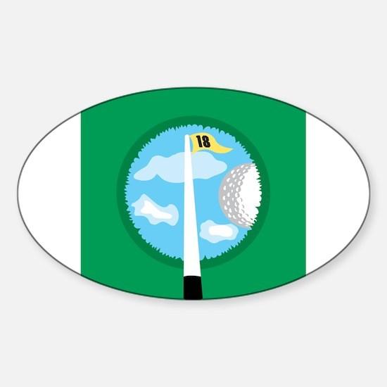 Golf Hole Oval Decal