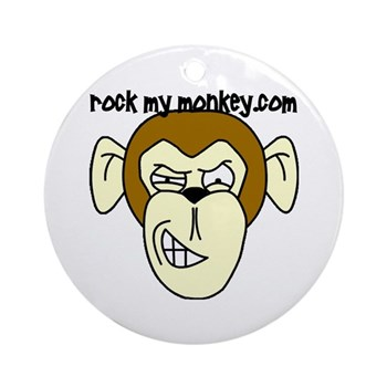 Rock My Monkey Ornament (Round)