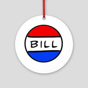 Bill Button Round Ornament