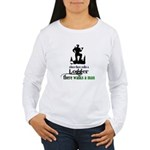 Where There Walks a Logger Women's Long Sleeve T-S