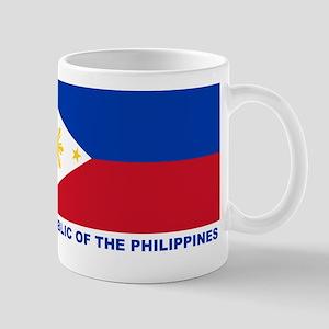 Philippines Flag (labeled) Mug
