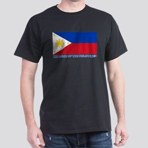 Philippines Flag (labeled) Dark T-Shirt