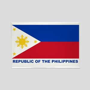 Philippines Flag (labeled) Rectangle Magnet