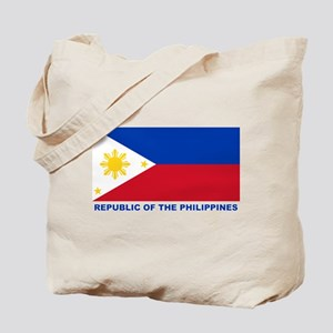 Philippines Flag (labeled) Tote Bag