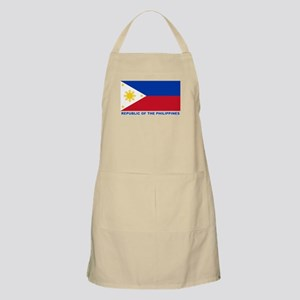 Philippines Flag (labeled) Apron