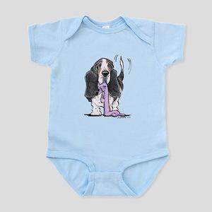 Tricolor Basset Playtime Infant Bodysuit