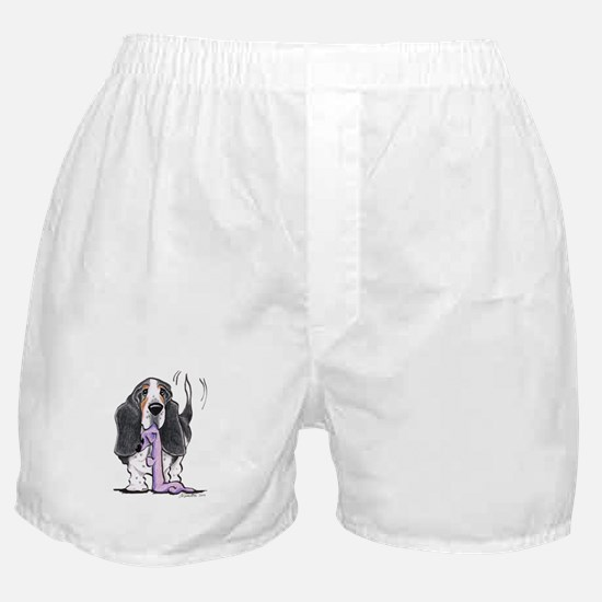 Tricolor Basset Playtime Boxer Shorts