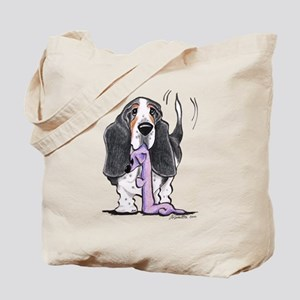 Tricolor Basset Playtime Tote Bag
