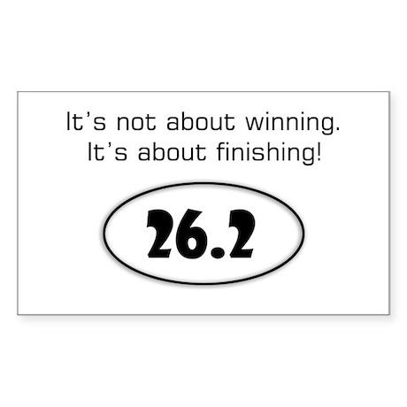 Marathon Runner Rectangle Sticker