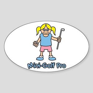 Mini-Golf Pro Oval Sticker
