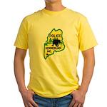 Kennebunk Maine Police Yellow T-Shirt
