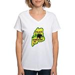 Kennebunk Maine Police Women's V-Neck T-Shirt