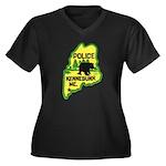 Kennebunk Maine Police Women's Plus Size V-Neck Da