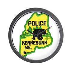 Kennebunk Maine Police Wall Clock