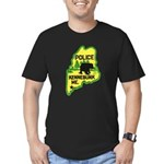 Kennebunk Maine Police Men's Fitted T-Shirt (dark)