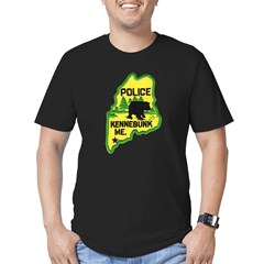 Kennebunk Maine Police Men's Fitted T-Shirt (dark)