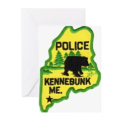 Kennebunk Maine Police Greeting Cards (Pk of 10)