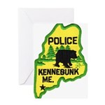 Kennebunk Maine Police Greeting Card