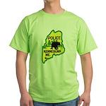 Kennebunk Maine Police Green T-Shirt
