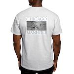 Chicago Manhole Ash Grey T-Shirt