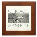 Chicago Manhole Framed Tile