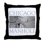 Chicago Manhole Throw Pillow