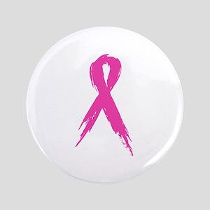"""Pink Ribbon 3.5"""" Button"""