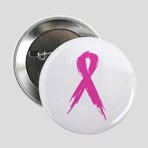 """Pink Ribbon 2.25"""" Button"""
