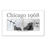 Chicago 1968 Rectangle Sticker
