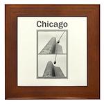 Chicago Lights Framed Tile