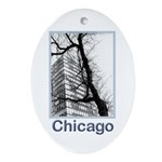 Chicago High-rise Oval Ornament