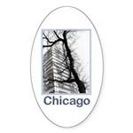 Chicago High-rise Oval Sticker