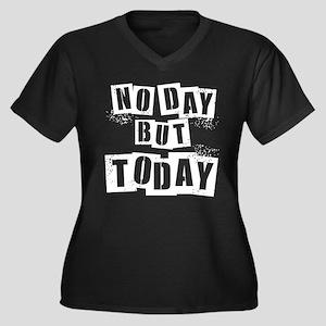 No Day Women's Plus Size V-Neck Dark T-Shirt
